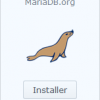 screenshot synology mariadb install