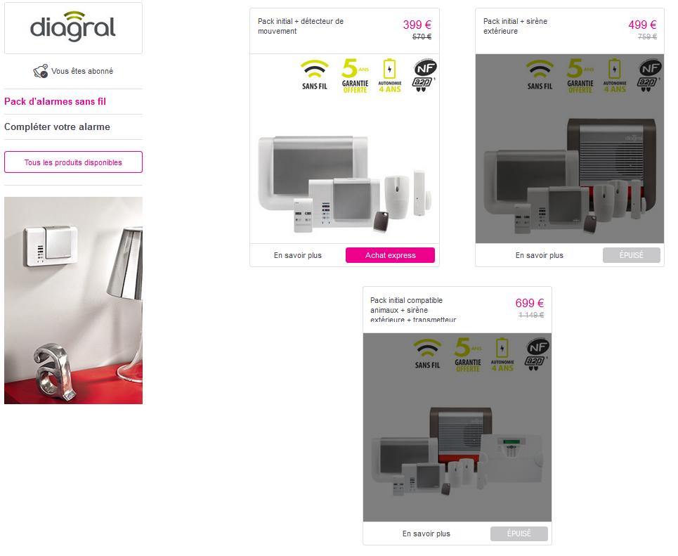 probleme alarme diagral stunning le clavier vocal lecteur de badge diagral diagack with. Black Bedroom Furniture Sets. Home Design Ideas